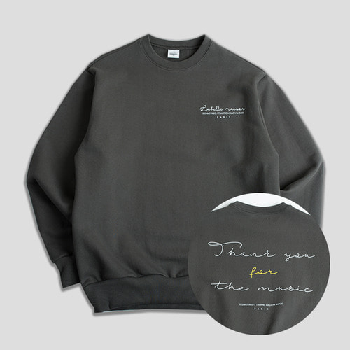 THANKU CREWNECK -스모키차콜-